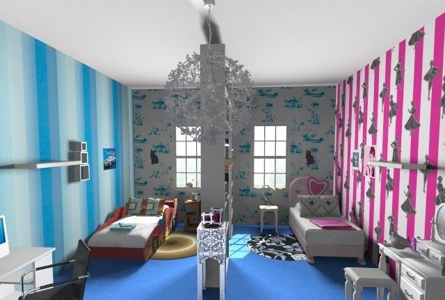 Как разделить комнату для разнополых детей? фото