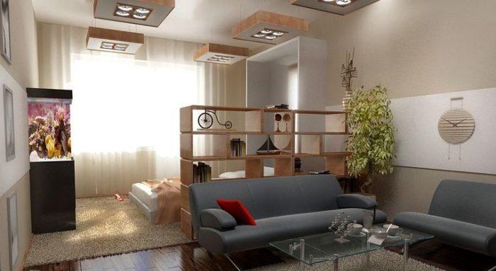 Как разделить комнату в однокомнатной квартире? фото
