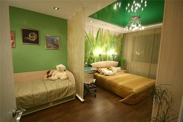 Как разделить комнату на 2 спальни? фото