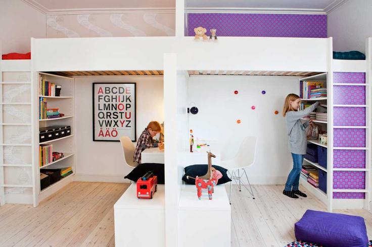Как разделить комнату для разнополых подростков? фото