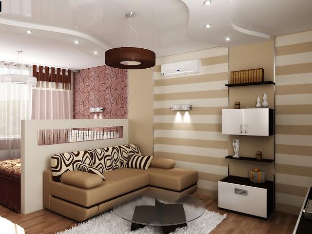 Как разделить маленькую комнату на спальню и гостиную? фото