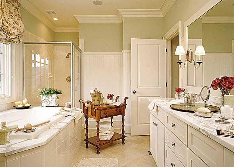 Как сделать ванную в классическом стиле? фото