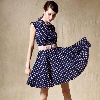 Free-shipping-via-EMS-Retro-style-LUXURY-Europe-meeting-dress-evidenced-classic-blue-slim-dot-vintage