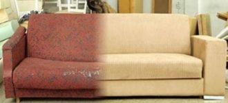Как перетянуть диван своими руками?