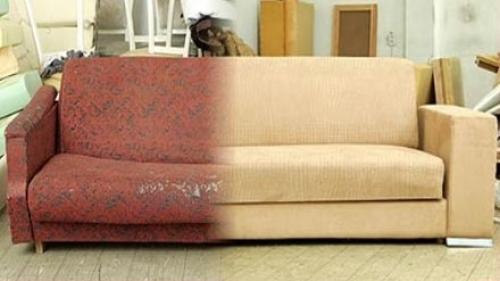Как перетянуть диван своими руками? фото