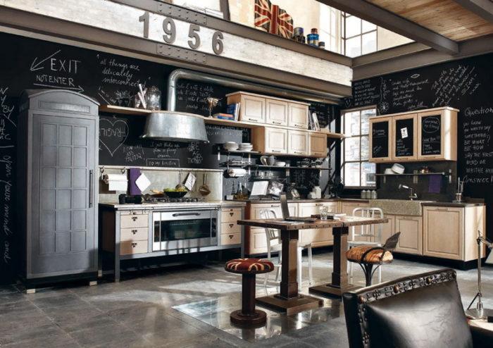 Грифельная краска: оригинальные идеи для оформления кухни. - фото