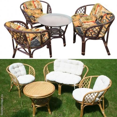 Мебель из ротанга: особенности фото