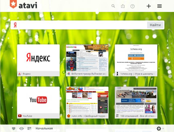Как поставить тему оформления на браузер Atavi? фото