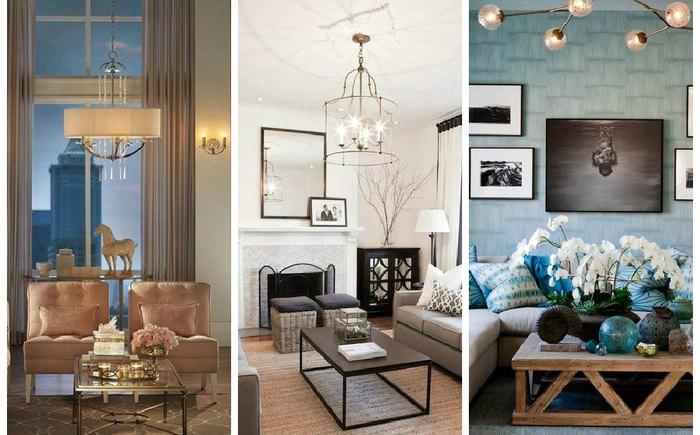 Как правильно организовать освещение в гостиной? фото
