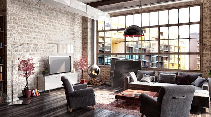 Как сделать ремонт квартиры в стиле лофт? фото