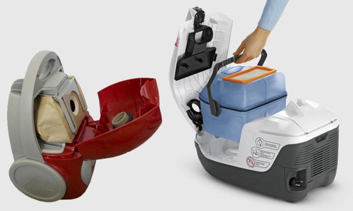 Какой пылесос лучше с мешком или с контейнером? фото
