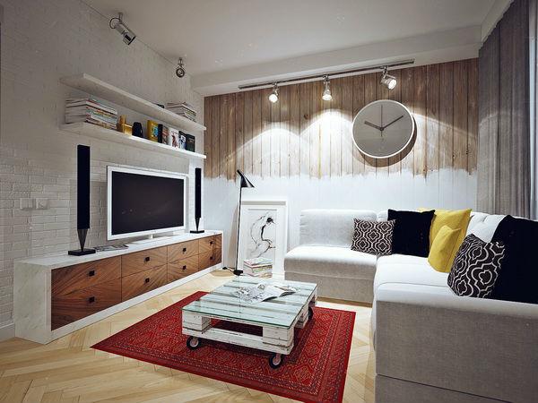 Как сделать гостиную в скандинавском стиле? фото