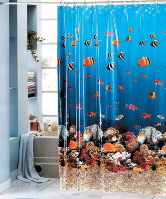 Прячемся в ванной   какую штору лучше всего выбрать? фото