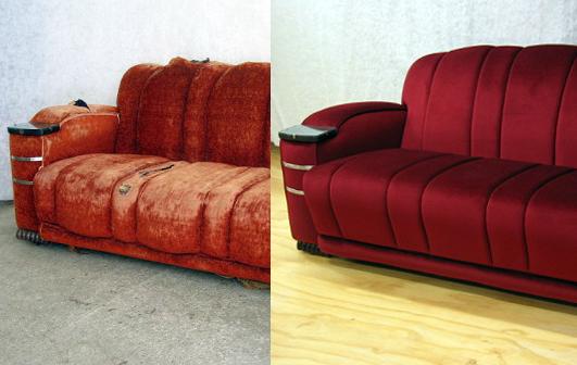Зачем нужная услуга   перетяжка мягкой мебели? фото