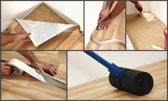 Как правильно постелить линолеум на деревянный пол? фото