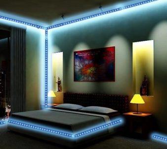 Как украсить комнату светодиодной лентой? фото