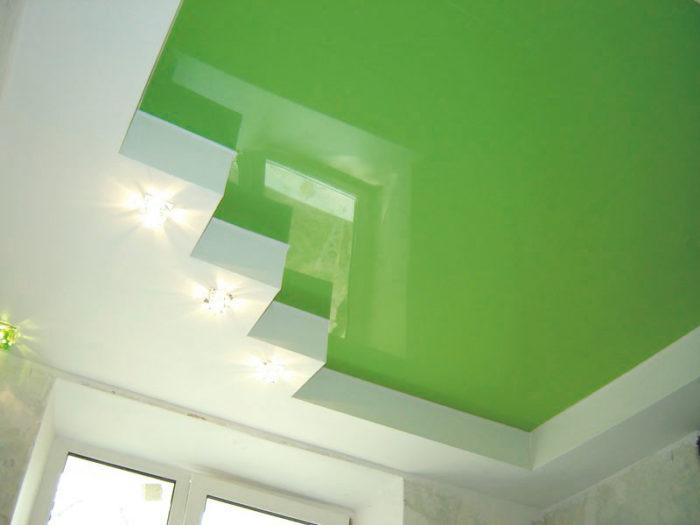 Какие достоинства у двухуровневых натяжных потолков? фото