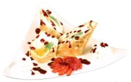 фруктовый сладкий ролл