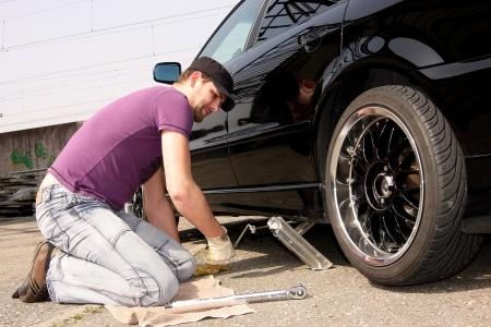 сменить колеса на автомобиле