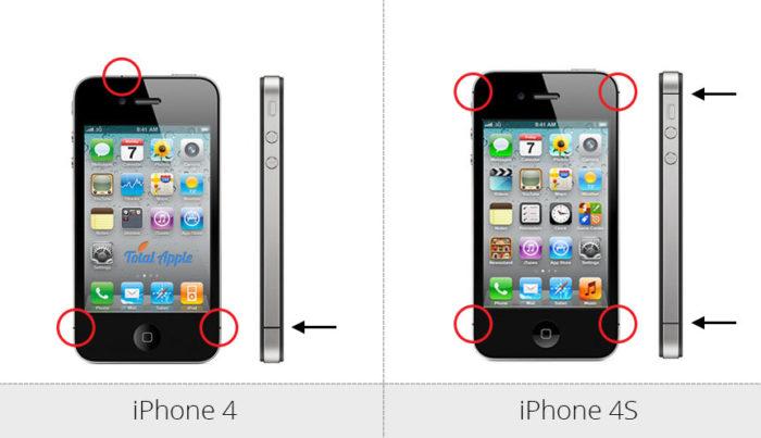 Отличия iphone 4 и 4s