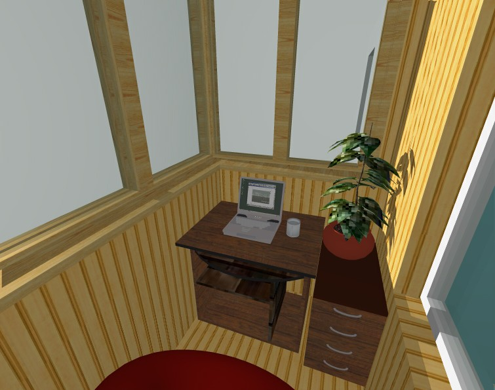 Балкон как дополнительная комната.