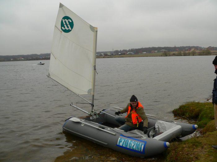 парус на надувную лодку